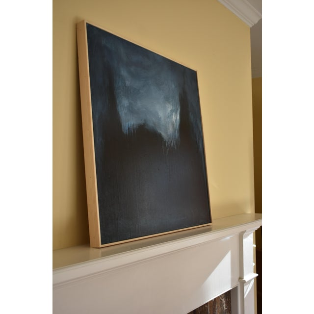 """Blue Modern """"The Abbey in Moonlight"""" Painting by Stephen Remick For Sale - Image 8 of 10"""