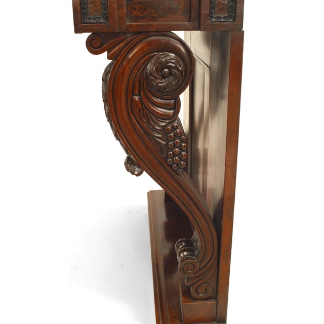 19th Century English Regency Mahogany Console Table For Sale - Image 4 of 6