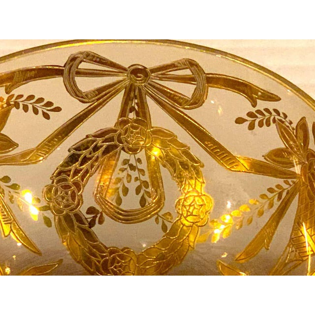 Set of Six Gilt Enameled Frosted Grand Coupes/ Dessert or Seafood For Sale - Image 9 of 11