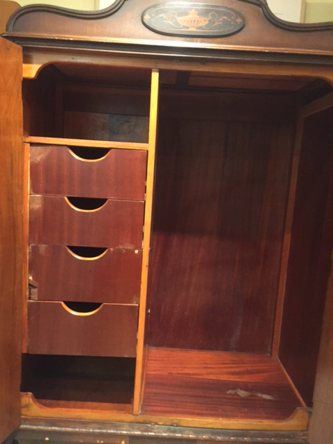 Antique Walnut Armoire   Image 4 Of 10