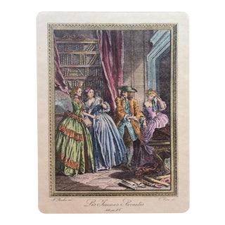 18th Century Neoclassical French Fashion Engraving Print, François Boucher For Sale