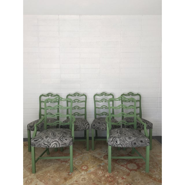 This wonderful set of six dining chairs is the perfect opportunity to add some fun and color to your dining room! Set of 6...