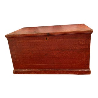 19th C. English Blanket Box For Sale