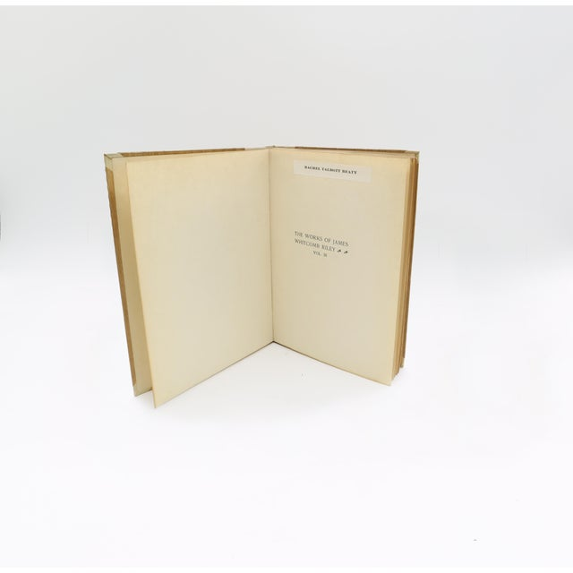 """""""The Poems and Prose Sketches of James Whitcomb Riley"""" Book Collection - Set of 16 For Sale - Image 10 of 11"""