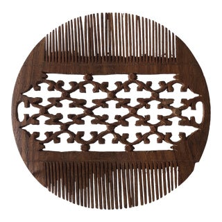 Hand Carved Indian Hair Comb For Sale