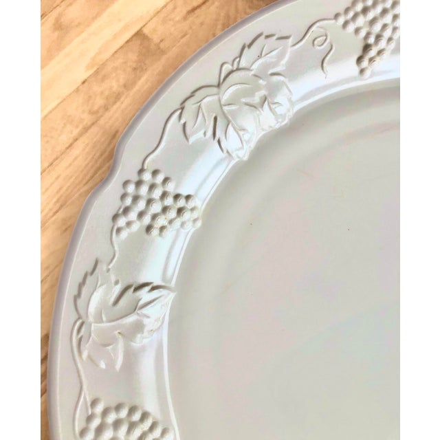 Glass 1950s Harvest Milk Glass Torte & Serving Plates by Colony - a Pair For Sale - Image 7 of 13
