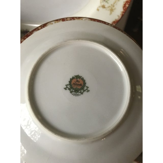 Yellow Antique Rare Hinode (Noritake ), Year 1876 Hand Painted China/48 Pieces, Dinnerware. Final Reduction For Sale - Image 8 of 13