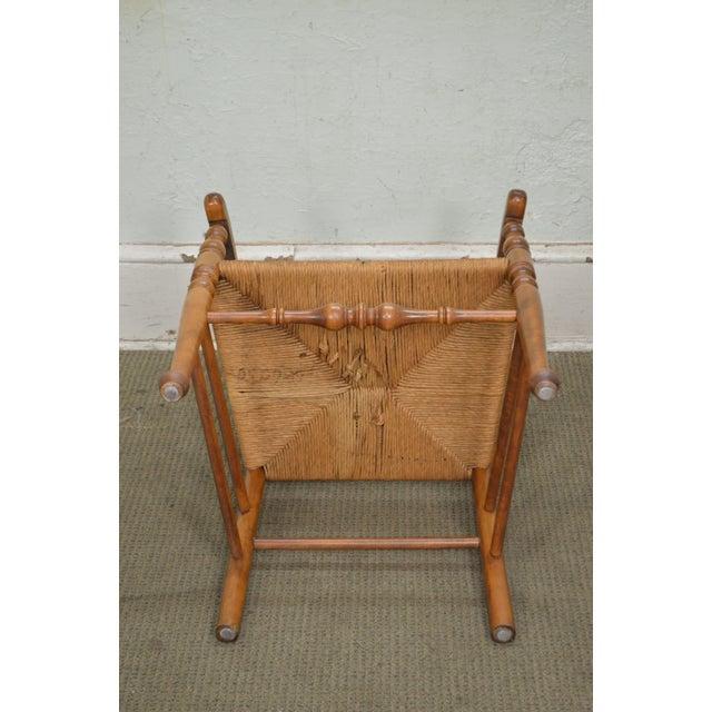 Ethan Allen Nutmeg Set of 6 Rush Seat Ladder Back Maple ...
