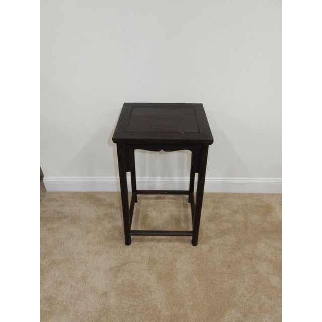 Antique Chinese Zitan Wood Side Table - Image 11 of 11