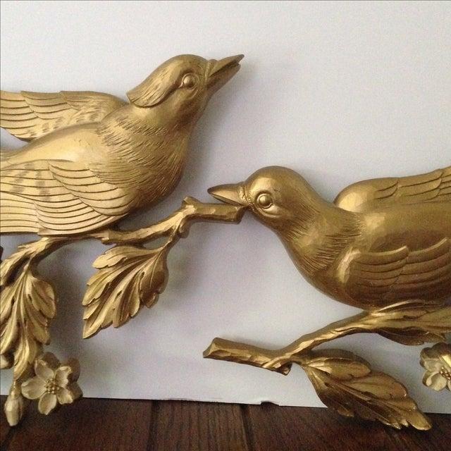 Mid Century Style Bird Wall Hangings - Pair - Image 10 of 11