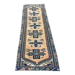 1960s Vintage Handmade Oushak Runner- 2′2″ × 8′5″ For Sale