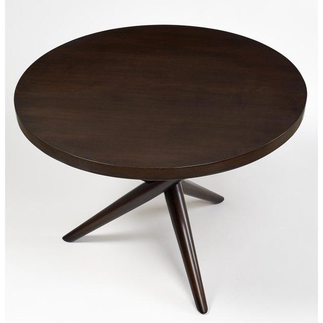 1950s T.H. Robsjohn Gibbings Tripod Base Side Tables - a Pair For Sale - Image 5 of 10