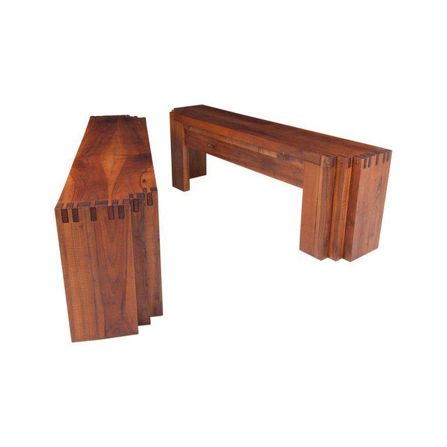Rivadossi Hardwood Dining or Console Table For Sale - Image 11 of 13