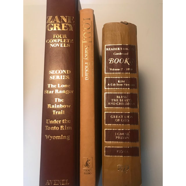 Paper 20th Century Americana Rich Gold and Brown Book Bundle - Set of 6 For Sale - Image 7 of 12