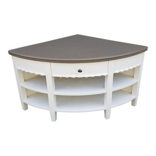 Cottage Style Wooden Corner Console