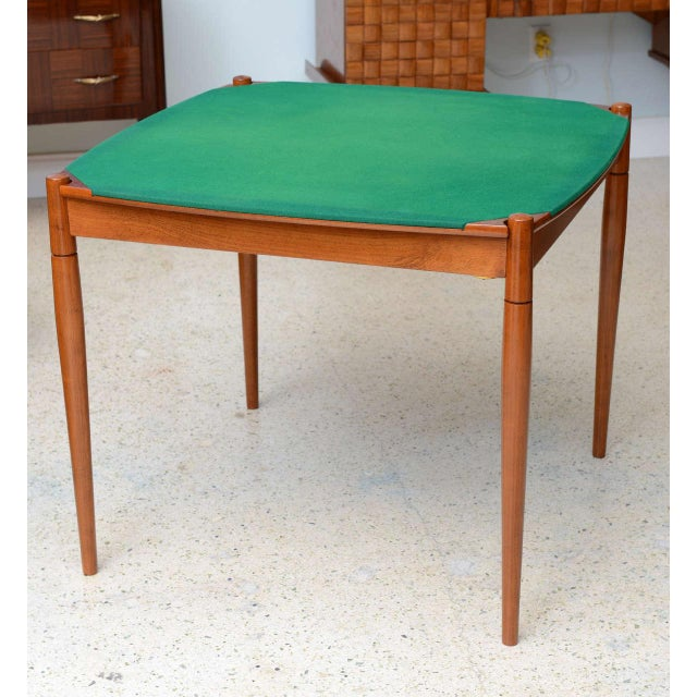 Gio Ponti Italian Modern Walnut Game Table by Gio Ponti for Singer & Sons For Sale - Image 4 of 11