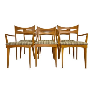 Mid-Century Modern Heywood Wakefield Wishbone Dining Chairs - Set of 6 For Sale