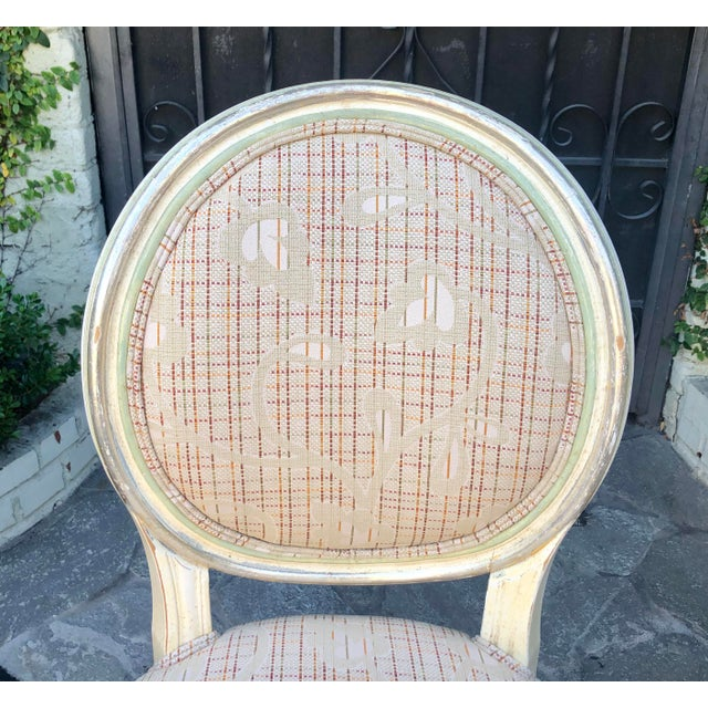 Set of 6 French Louis XVI Balloon Back Dining Chairs For Sale - Image 9 of 10