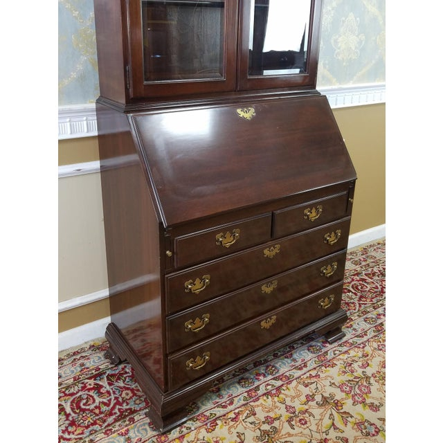 Ethan Allen Cherry Georgian Court Secretary Desk - Image 6 of 8
