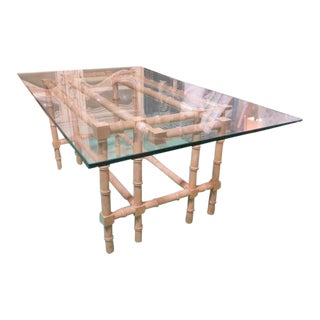 1960s VINTAGE Bamboo Design Dining Table For Sale