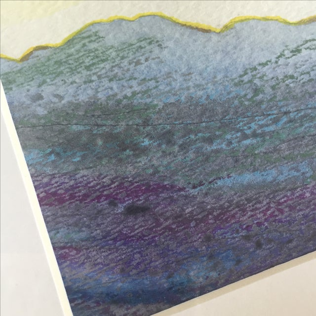 Oil Pastel and Gold Leaf Painting - Image 4 of 7