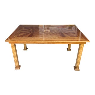 Vintage Marquetry Dining Table