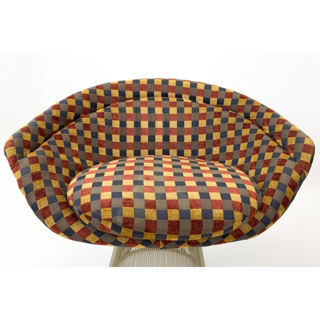 Blue Mid Century Modern Warren Platner Lounge Chairs - a Pair For Sale - Image 8 of 9