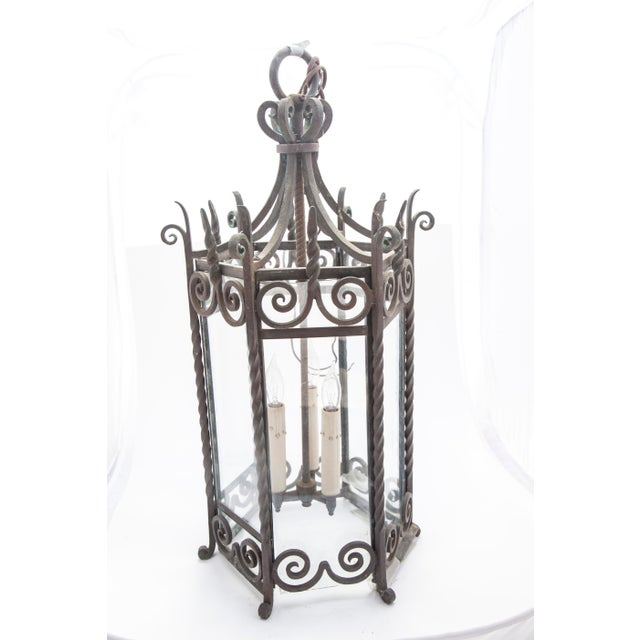 Six-Sided Iron Lantern - Image 2 of 9