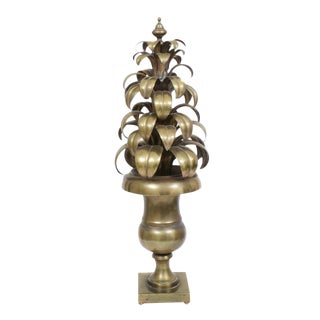 Italian Mid-Century Sculpted Brass Topiary For Sale