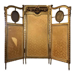 Louis XVI Style Fire / Dressing Screen or Room Divider For Sale