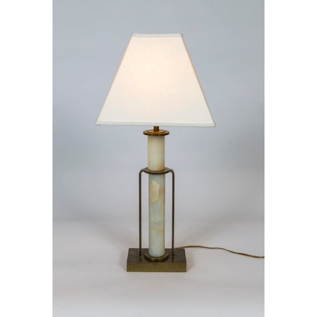 Art Deco Marble and Brass Table Lamp For Sale - Image 10 of 10