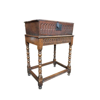 19th Century Jacobean Revival Chest or Pedestal Table For Sale