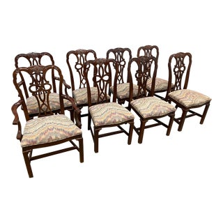 1990s Century Furniture Traditional Dining Chairs - Set of 8 For Sale