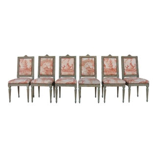 Vintage Italian Set of 6 Chairs For Sale