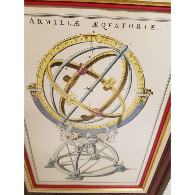 Vintage Hand Colored Armillary Prints - a Pair - Image 3 of 7