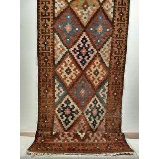 Persian Flat Woven Kilim Runner - 2′10″ × 12′3″ Preview