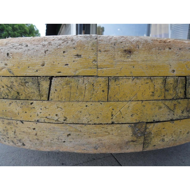 Large Wooden Industrial Gear Mold For Sale - Image 10 of 11