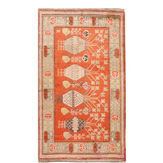 Early 20th Century Antique Samarkand Khotan Rug 5 X 9 For Sale