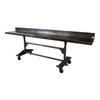 Mid 20th Century Jarke SteelMobile 10ft. Industrial Adjustable Rolling Work Table For Sale