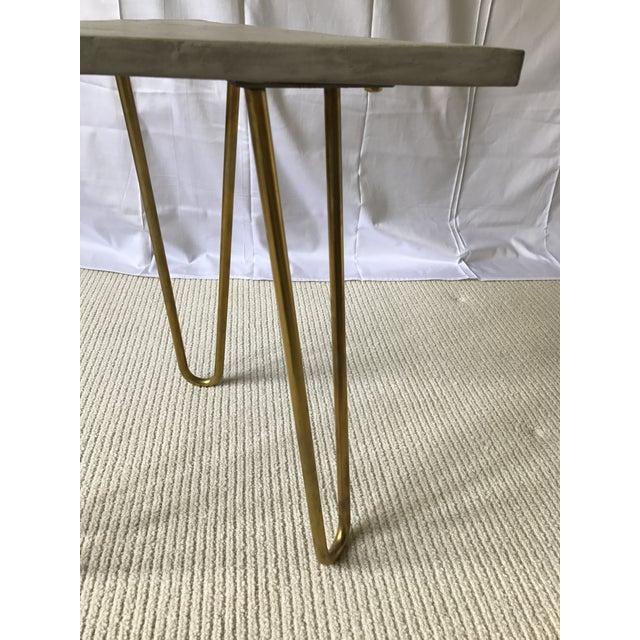 Katy Skelton Concrete & Brass Zelda Table - Image 6 of 6