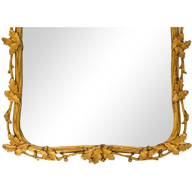 Rococo Milch & Son Gilded Oak Leaf Mirror For Sale - Image 3 of 9