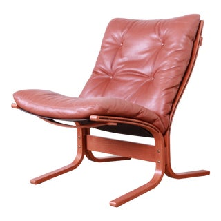 Ingmar Relling for Westnofa Bentwood Teak and Leather Siesta Lounge Chair For Sale