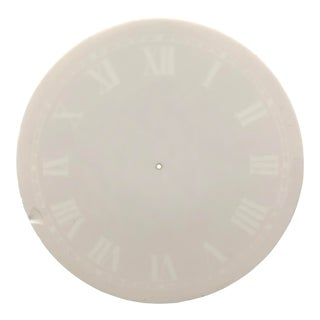 Large 19th Century Glass Clock Face For Sale