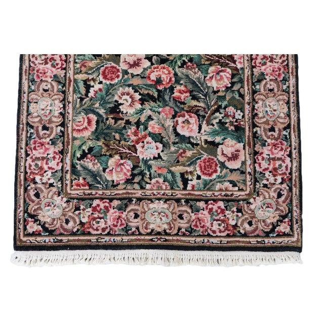 Hand-Knotted Floral European Design Runner Rug Floral - 2′6″ × 12′ - Image 4 of 5