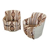 Image of Milo Baughman for Thayer Coggon Swivel Chairs - a Pair For Sale