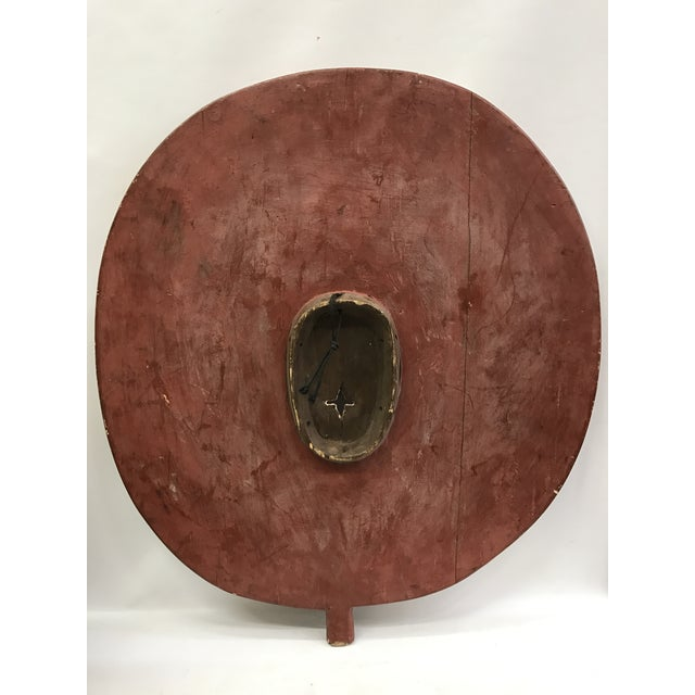 African Tribal Art Large Plank Bwa Mask - Image 6 of 6