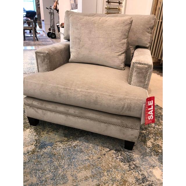 Early 21st Century Linen Velvet Gramercy Chair For Sale - Image 5 of 10