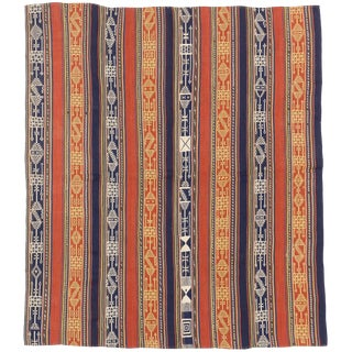 Antique Persian Flat-Weave Jajim Rug-4′10″ × 5′7″ For Sale