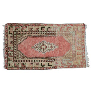 """Distressed Oushak Rug - 2'6"""" X 4'3"""" For Sale"""