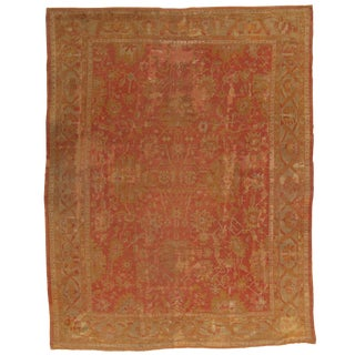 Late 19th Century Vintage Pasargad DC Turkish Oushak Hand-Knotted Rug- 14' X 19' For Sale
